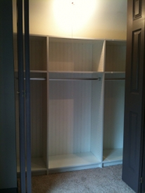 After: After: We created a custom closet that fit the odd attic space perfectly