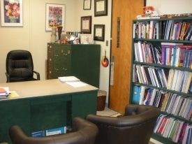 Before: A campus office was depressing for the professor to enter each day and she dreaded having meetings in this space
