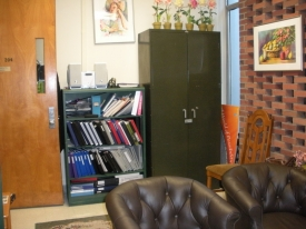 Before; A lackluster campus office