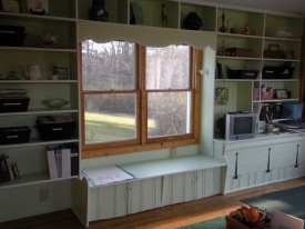 After:  We cleared space in the studio, opened up the home owner's creativity and allowed her the studio she always wanted